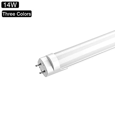 LED Tube Light, 14W 144 Beads 90CM Office Light Fluorescent Bulb Replacement, G13 Base Three Color Temperature, Frosted Cover, AC 85-265V, Dual End Ballast Bypass