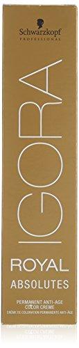 Schwarzkopf IGORA Royal Absolutes Permanent Anti-Age Color Creme 5-80 hellbraun rot natur, 1er Pack (1 x 60 ml)