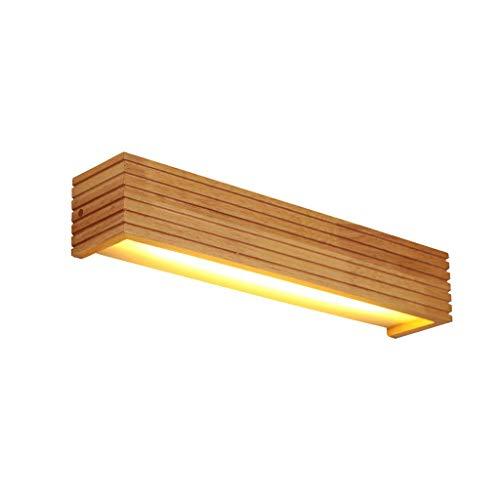 Spiegel koplamp wandlamp make-up spiegel make-up spiegel TV achtergrondverlichting LED hout nachtkastje wit licht warm wit 20.04.18 (kleur: warm wit licht)