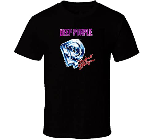 JINGQ Deep Purple Perfect Strangers Cotton Black Men S-234XL T-Shirt SS726 Black XXL