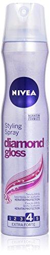 Nivea Styling Spray Diamond Gloss, Tenuta Forte, 250ml