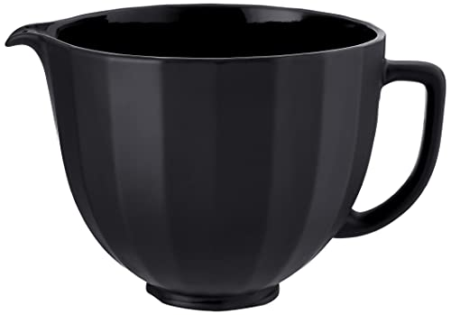 KitchenAid 5 Quart KSM2CB5PBS Ceramic Bowl, Black Shell
