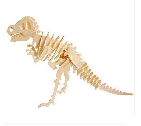 LVEDU Rompecabezas de madera 3D dinosaurio Woodcraft kit de construcción juguetes de madera para niños y adultos