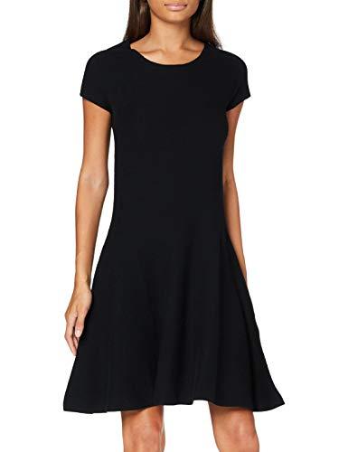 United Colors of Benetton Damen Vestito Kleid, Schwarz (Nero 700), Large