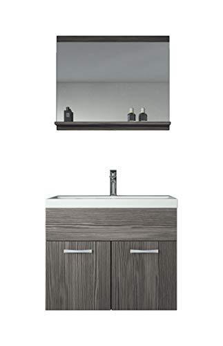 Badezimmer Badmöbel Montreal 02 Bodega 60cm Waschbecken - Unterschrank Waschtisch Spiegel Möbel