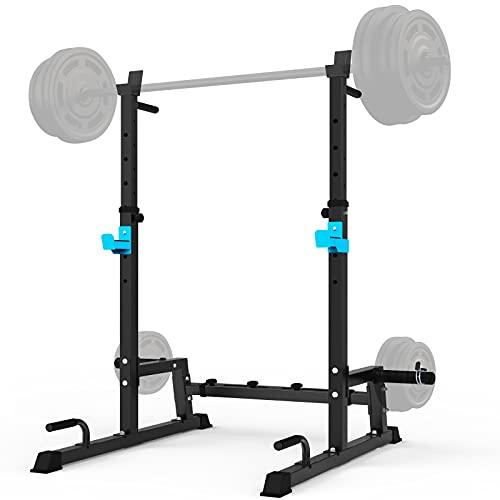 JX FITNESS Adjustable Squat Rack Barbell Rack, Bench Press Rack Push...