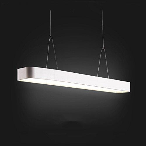 Luminaires suspendus Lustre rectangulaire minimaliste moderne bureau salle de réunion (Couleur : A-90 * 12 * 6cm)