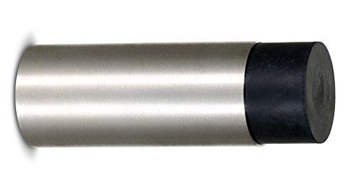 Stoppwerk Topes para puertas de acero inoxidable TS014 - Tope con goma y material de instalación para pared incluido - Tope puerta