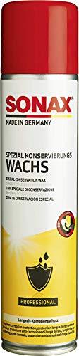 SONAX SpezialKonservierungsWachs (400 ml) transparentes, salz- und spritzwasserfestes Sprühwachs | Art-Nr. 04853000