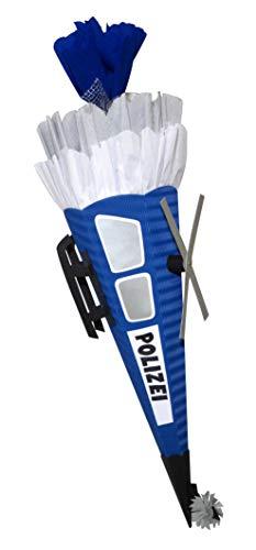 Schultüte Bastelset Polizei Hubschrauber - Zuckertüte - aus 3D Wellpappe, 68cm hoch