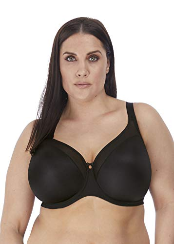 Elomi Women's Plus Size Smooth Underwire Molded Bra, Black, 36HH