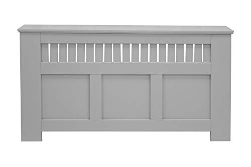 Jack Stonehouse Oak Maple White Grey Green Painted Modern MDF Radiator Cover Cabinet with Panel Grill, Large, Engineered Wood