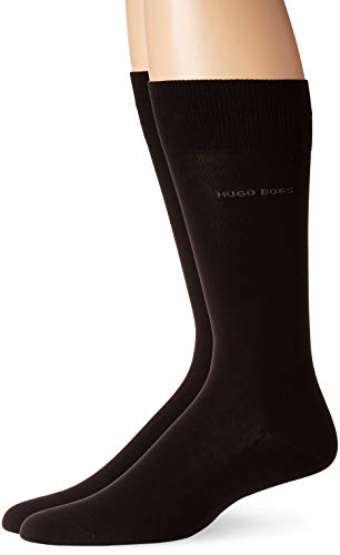 Paquete de 2 calcetines de algodón de ajuste regular, Negro, 7-13