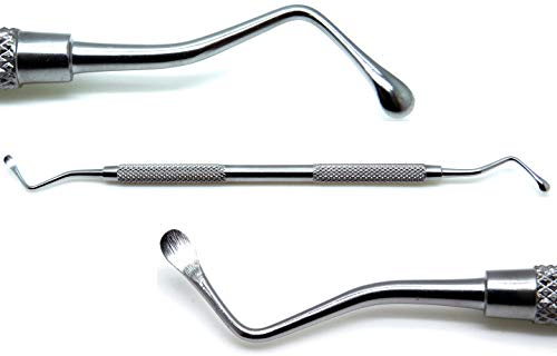 Dental Lucas Surgical Bone Curette 88 Double Ended Spoons 4mm Stainless Steel Instruments