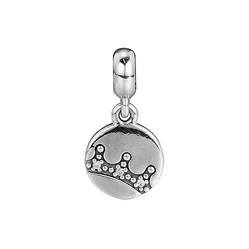 LIIHVYI Pandora Charms para Mujeres Cuentas Plata De Ley 925 Esencia Deslumbrante Corona Colgante Joyería DIY Compatible con Pulseras Europeos Collars