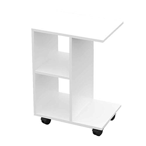CHGDFQ Mesita de noche de almacenamiento, sofá de dormitorio, mesita de noche simple y moderna con cajón de almacenamiento (color: blanco)