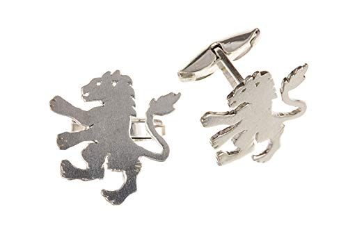 Sterling Silver Lion Cufflinks