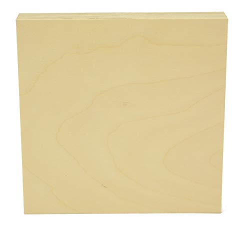 Woodcrafter 1' Thick Baltic Birch Plywood Square 16 Inch