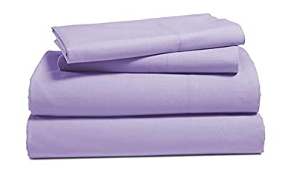 100% Cotton Percale Sheets Set - 100 Cotton Pure Brushed Percale Weave Long Staple Ultra Soft Bed Sheet Sets Fits 17 inch Deep Pocket Mattress