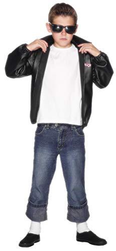 40' Black Grease T-Birds Boy's Tween Size Jacket with Logo