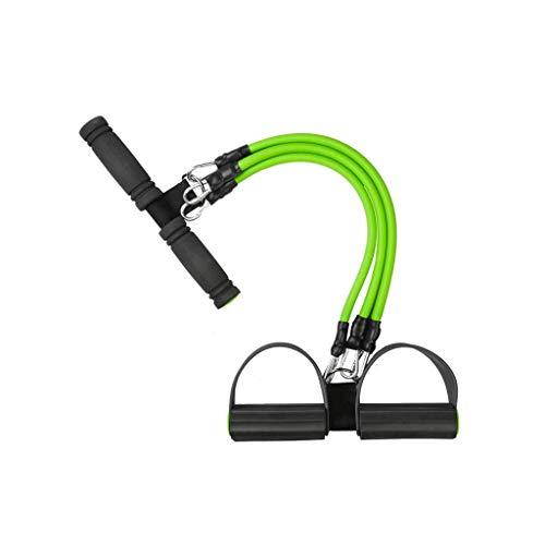 JHEY Rallye Sit-ups Startseite Weibliche Fitnessgeräte DREI-Fuß-Knöchel Sport Seil ziehen Bauch Abnehmen Fitness Shaping (Color : Green)