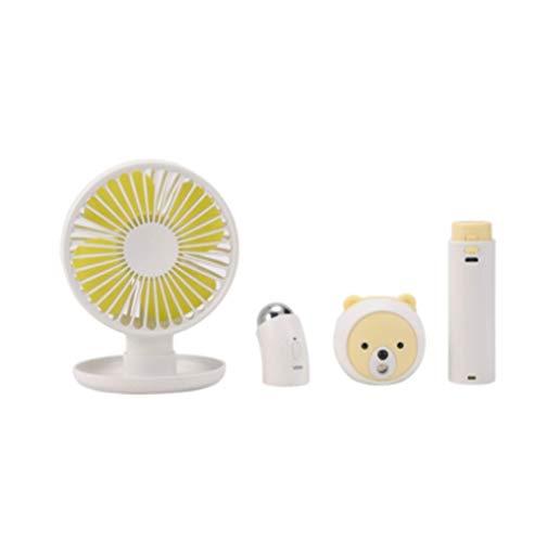 LJJ 4-In-1 Massager USB-ventilator, mobiele voeding hydraterende verstuiver multi-functie gezichtsverzorging Set gezichtsbescherming apparaat