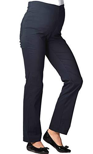 Christoff Umstandshose Schwangerschaftshose Stretch-Hose - Straight fit gerades Bein - hoher Bund - 53/33/47 - blau Marine - Gr. 40