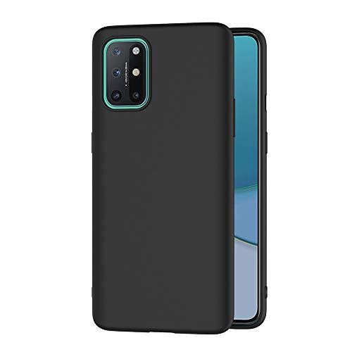 AICEK Hülle Compatible OnePlus 8T Schwarz Silikon Schutzhülle für OnePlus 8T Hülle TPU Bumper OnePlus 8T Handyhülle (6,55 Zoll)