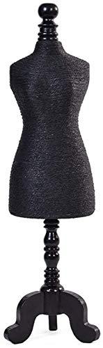 KEEBON Soporte de la exhibición de la joyería Collar Colgante de la Cadena del Soporte del Soporte del Busto del Busto (Color: Amarillo, Tamaño: Un tamaño) (Color : Black, Talla : Un tamaño)