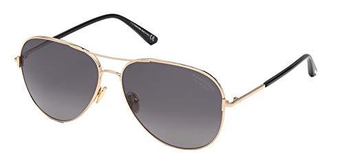 Tom Ford Gafas de Sol CLARK FT 0823 Shiny Rose Gold/Dark Grey Shaded 61/14/140 unisex