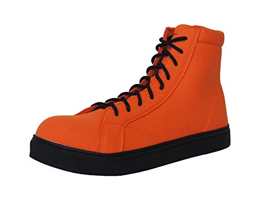 CH001 【Charlie works】チャーリーワークス チャーリー安全靴 メンズ レディース ブーツ ハイカット おしゃれ 編み上げ (フラッシュオレンジ 24.5)
