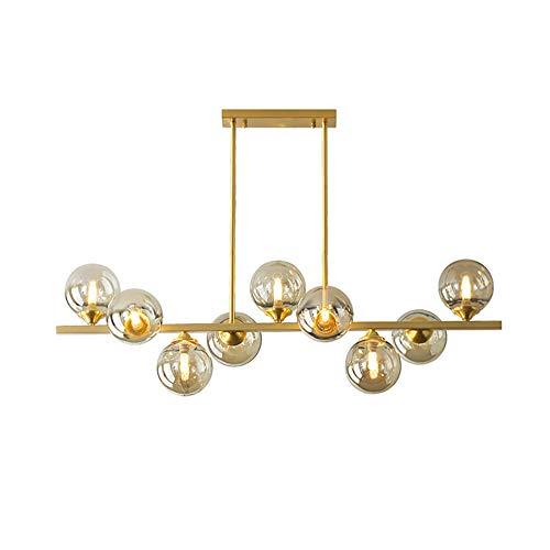 Brass Sputnik Kronleuchter 9-flammig Modern Pendelleuchte Mid Century Kronleuchter Einstellbar Deckenleuchte Für Esszimmer Wohnzimmer