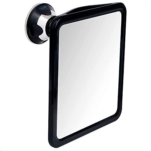 Mirrorvana Espejo de Ducha y Afeitado sin vaho con Ventosa, 20 x 17cm