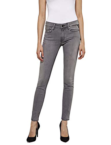 Replay Damen New LUZ Jeans, Grau (Medium Grey 96), No Aplica/L30 (Herstellergröße: 29)