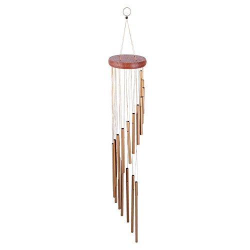 Niunion Carrillones, Campana de Viento 18 Tubos de Metal Carillones de Viento Exterior Interior Jardín Patio Balcón Decoración Regalo de cumpleaños