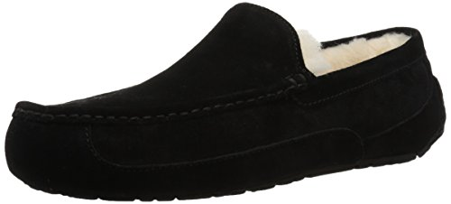 UGG Male Ascot Slipper, Black, 6 (UK)