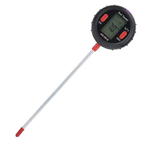 5 in 1 Bodentester Feuchtigkeitsmesser Digitales Boden Feuchtigkeits-Sonnenlicht PH-Tester-Kits Pflanzenfeuchtigkeits-Tester-Thermometer Gartengerät für Gartenfarm Rasen Indoor Outdoor