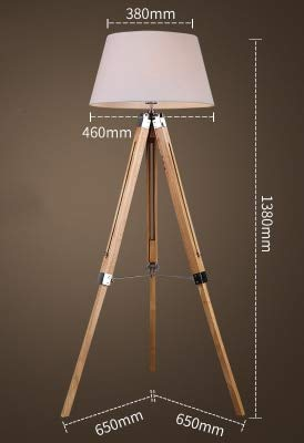 BINGFANG-W Moderno American Vintage Lámpara de pie Ajustable Trípode Lámparas de pie for sala de estar Dormitorio Dormitorio Decoración Luz Home E27 Lámpara de pie LED (Lampshade Color : L)