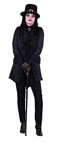 Disfraz de pirata T2689-0100-L para mujer, color negro, talla L = 42