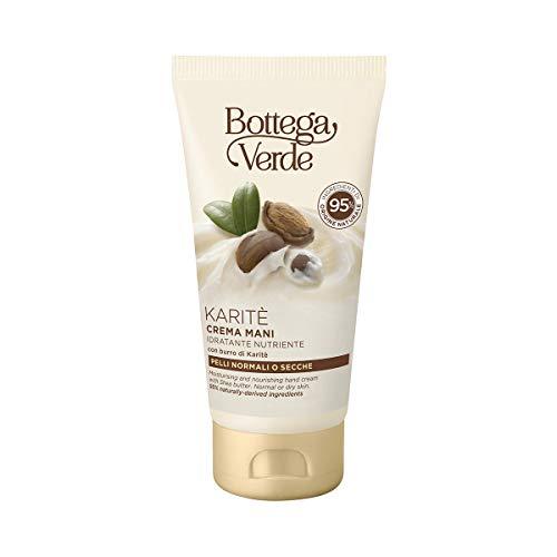 Bottega Verde - Crema mani Karite d'Africa idratante nutriente -con burro di Karite (75 ml) - pelli normali o secche