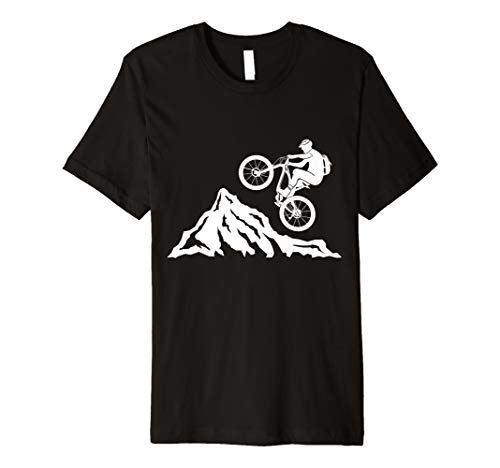 mountainbike ,mountain biker,mountains,downhill, bike, jump Premium T-Shirt