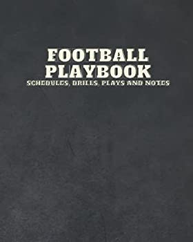 Football Coaching Playbook and Notebook - Black  Templates play overviews drills and notes for players and coaches