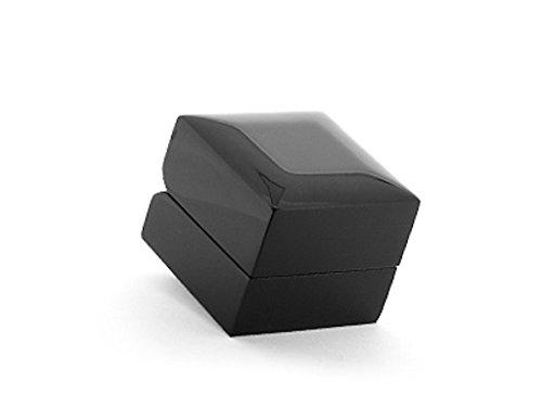 Luxe sieradendoos van hout - zwart, hoogglans gepolijst met zwart fluweel bekleed, DSC016