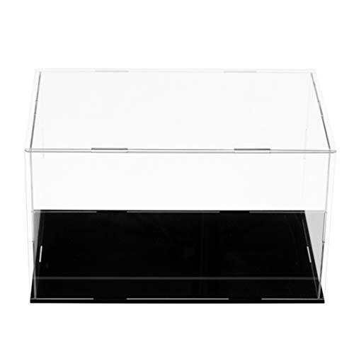 HomeDecTime Klare Acryl Vitrine Schaukasten Staubschutz Ausstellung Box für Sammelfigur - 18x10x8cm