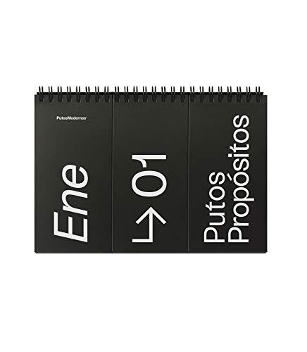 El Puto Calendario Atemporal - Un calendario de mesa para toda la vida. Con 31 Putos mensajes intercambiables según tu estado de ánimo o desánimo [210 x 145 mm, Idioma Español]