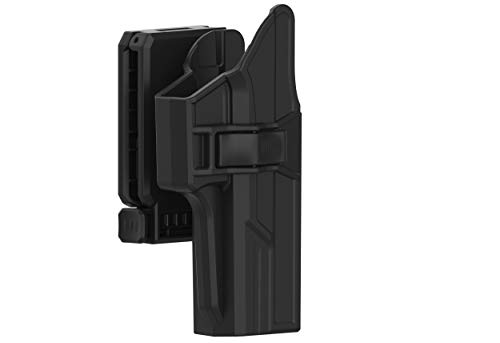 Holster for Glock 17 22 31 (Gen 1-5), 360° Adjustable Tactical Outside Waistband Open Carry Belt Holster Fit G17 G22 G31 with Rapid Release, OWB Carry, Right-Handed