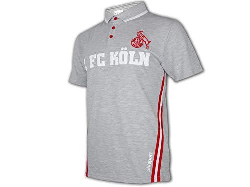 uhlsport 1. FC Köln Sportswear Polo grau Effzeh Poloshirt Fan Shirt Bundesliga, Größe:S