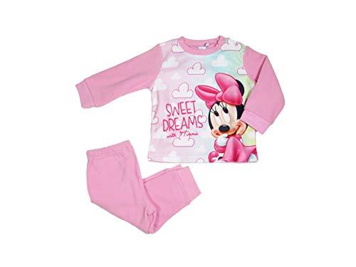 Disney Baby Pyjama fille d'hiver en polaire Minnie Mouse 12/36 mois - 0335 - Rose - 3 ans