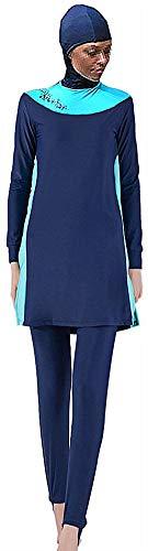 New - Full Cover Bescheidene Badebekleidung Modest Muslim Swimwear Beachwear Burkini für muslimische Frauen (XXL, Blau Farbe)