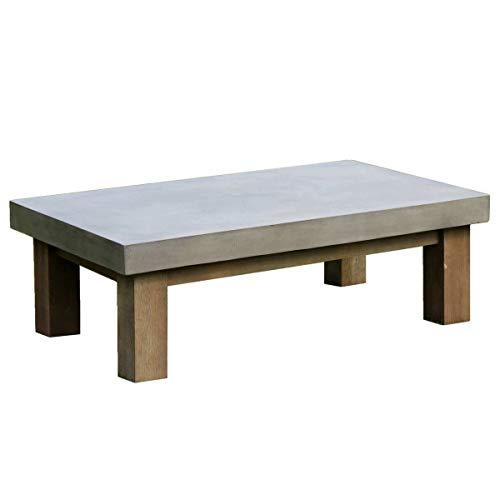 MATHI DESIGN Table Basse de Salon béton & Bois